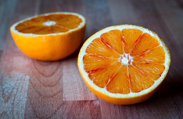 půlky pomerančů